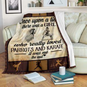 Once upon a time - parrots and karate@_summerlifepro_Oncev32d3v@premium-blanket Once Upon A Time - Parrots And Karate Fleece Blanket, Personalized Gifts, Custom Blanket 594617