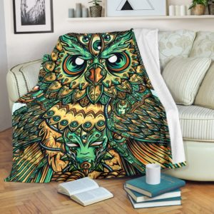 God Owl Of Dreams Blanket@_animallovepro_DGFH@premium-blanket God Owl Of Dreams Blanket Fleece Blanket, Personalized Gifts, Custom Blanket 594513