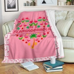 Flamingo aholic summer blanket@_shoesnp_dt_d_Flamingo_aholic_summer_blanket@premium-blanket Flamingo Aholic Summer Blanket Fleece Blanket, Personalized Gifts, Custom Blanket 594305
