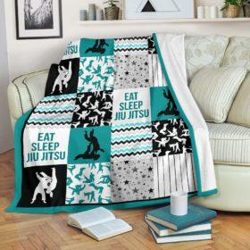 Jiu Jitsu Shape Pattern Blanket Lqt Fleece Blanket, Personalized Gifts, Custom Blanket