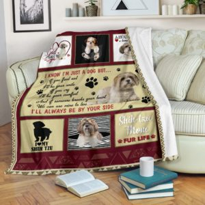 Shih Tzu Be By Your Shide Blanket@_shoesnp_Mn_Shih_Tzu_Be_By_Your_Shide_Blanket@premium-blanket Shih Tzu Be By Your Shide Blanket Fleece Blanket, Personalized Gifts, Custom Blanket 593589
