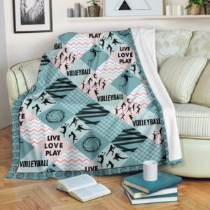 Volleyball - Pattern Cross X Blanket - SR@_summerlifepro_ueyqnsdvnx098@premium-blanket Volleyball - Pattern Cross X Blanket - Sr Fleece Blanket, Personalized Gifts, Custom Blanket 592680