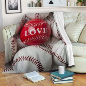baseball love blanket@_summerlifepro_baseb567365@premium-blanket Baseball Love Blanket Fleece Blanket, Personalized Gifts, Custom Blanket 592355