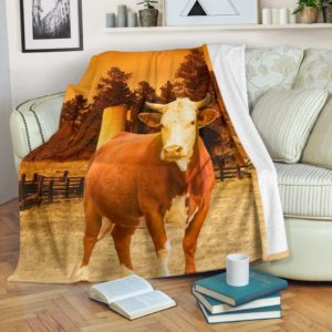 cow farm 3D blanket@_shoesnp_lt_8_cow_farm_3D_blanket@premium-blanket Cow Farm 3D Blanket Fleece Blanket, Personalized Gifts, Custom Blanket 592342