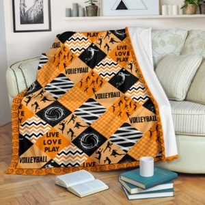 Volleyball - Pattern Cross X Blanket Orange - SR@_summerlifepro_ruqfhqis762@premium-blanket Volleyball - Pattern Cross X Blanket Orange - Sr Fleece Blanket, Personalized Gifts, Custom Blanket 592316