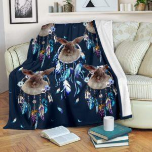 Rabbit dream catcher blanket@_shoesnp_dt_3_Rabbit_dream_catcher_blanket@premium-blanket Rabbit Dream Catcher Blanket Fleece Blanket, Personalized Gifts, Custom Blanket 592160