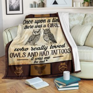 Once upon a time - owls blanket@_animallovepro_olg3t4767@premium-blanket Once Upon A Time - Owls Blanket Fleece Blanket, Personalized Gifts, Custom Blanket 591926