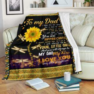 Dragonfly Love Dad Blanket@_shoesnp_Mn_Dragonfly_Love_Dad_Blanket@premium-blanket Dragonfly Love Dad Blanket Fleece Blanket, Personalized Gifts, Custom Blanket 591913