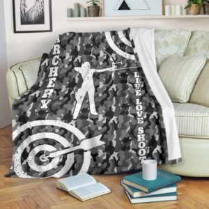 ARCHERY CAMO BACKGROUND BLANKET@_summerlifepro_ARCHERY454@premium-blanket Archery Camo Background Blanket Fleece Blanket, Personalized Gifts, Custom Blanket 591017