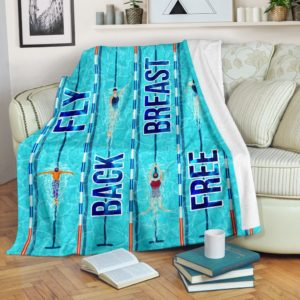 Swimming - Fly Back Breast Free Blanket KD@_summerlifepro_dfhyu@premium-blanket Swimming - Fly Back Breast Free Blanket Kd Fleece Blanket, Personalized Gifts, Custom Blanket 590978