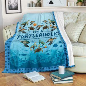 I am turtle aholic blanket@_shoesnp_dt_d_I_am_turtle_aholic_blanket@premium-blanket I Am Turtle Aholic Blanket Fleece Blanket, Personalized Gifts, Custom Blanket 590233
