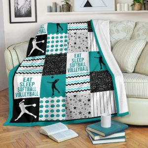 softball volleyball shape pattern blanket LQT@_summerlifepro_sivhu5849@premium-blanket Softball Volleyball Shape Pattern Blanket Lqt Fleece Blanket, Personalized Gifts, Custom Blanket 590129