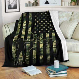archery army usa flag blanket@_summerlifepro_archer859@premium-blanket Archery Army Usa Flag Blanket Fleece Blanket, Personalized Gifts, Custom Blanket 590116
