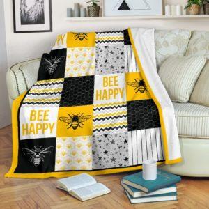 bee shape pattern blanket LQT@_animallovepro_bee7930@premium-blanket Bee Shape Pattern Blanket Lqt Fleece Blanket, Personalized Gifts, Custom Blanket 590103