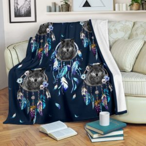 Wolf dream catcher blanket@_shoesnp_Dt_3_Wolf_dream_catcher_blanket@premium-blanket Wolf Dream Catcher Blanket Fleece Blanket, Personalized Gifts, Custom Blanket 589453