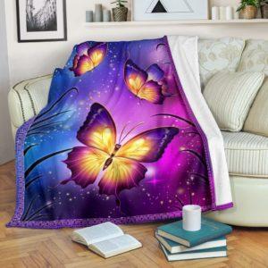 bb butterfly SKY Blanket SKY@_animallovepro_ghf675@premium-blanket Bb Butterfly Sky Blanket Sky Fleece Blanket, Personalized Gifts, Custom Blanket 589427