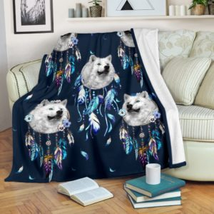 Wolves dream catcher blanket@_shoesnp_Dt_3_Wolves_dream_catcher_blanket@premium-blanket Wolves Dream Catcher Blanket Fleece Blanket, Personalized Gifts, Custom Blanket 589011