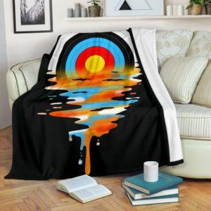 Archery - Melting Sun Blanket@_summerlifepro_dgfhjhgj@premium-blanket Archery - Melting Sun Blanket Fleece Blanket, Personalized Gifts, Custom Blanket 588972