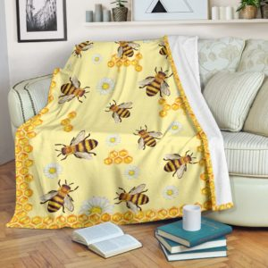 bee hive blanket LQT@_animallovepro_bee58738@premium-blanket Bee Hive Blanket Lqt Fleece Blanket, Personalized Gifts, Custom Blanket 588868