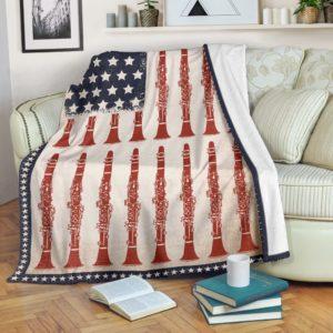 American Flag patriotic Clarinet Blanket@_proudteaching_patriotic564Clarinet@premium-blanket American Flag Patriotic Clarinet Blanket Fleece Blanket, Personalized Gifts, Custom Blanket 588716