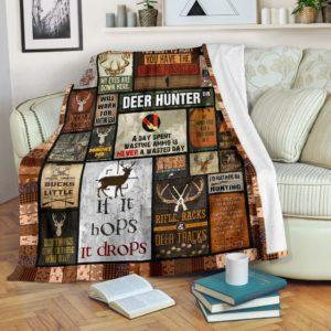 DEER HUNTER BLANKET@_proudteaching_fgfhfghdfh@premium-blanket Deer Hunter Blanket Fleece Blanket, Personalized Gifts, Custom Blanket 588591