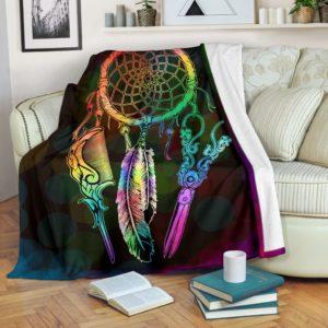 Hair Stylist Dreamcatcher Blanket@_proudteaching_hairdrea763@premium-blanket Hair Stylist Dreamcatcher Blanket Fleece Blanket, Personalized Gifts, Custom Blanket 588493