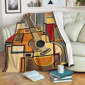 guitar abstract blanket@_proudteaching_guitc32zc3@premium-blanket Guitar Abstract Blanket Fleece Blanket, Personalized Gifts, Custom Blanket 588342