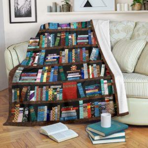 bookshelf bear pre blanket@_proudteaching_books45f45@premium-blanket Bookshelf Bear Pre Blanket Fleece Blanket, Personalized Gifts, Custom Blanket 588306