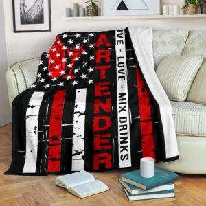 Bartender - Live love Flag Blanket@_proudteaching_bartefl8974@premium-blanket Bartender - Live Love Flag Blanket Fleece Blanket, Personalized Gifts, Custom Blanket 588257