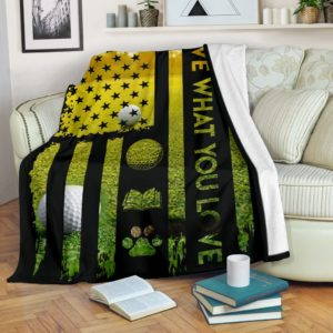 Golf - Live What You Love Blanket@_proudteaching_dgfhfgh@premium-blanket Golf - Live What You Love Blanket Fleece Blanket, Personalized Gifts, Custom Blanket 587748