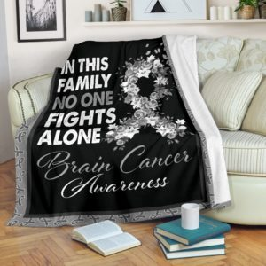 brain cancer- in this family no one fights alone blanket@_proudteaching_brauu7829@premium-blanket Brain Cancer- In This Family No One Fights Alone Blanket Fleece Blanket, Personalized Gifts, Custom Blanket 587735