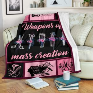 Hair Stylist - Weapons of mass creation Blanket@_proudteaching_dfgfdgdfg@premium-blanket Hair Stylist - Weapons Of Mass Creation Blanket Fleece Blanket, Personalized Gifts, Custom Blanket 587606