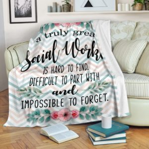 A truly great Social Worker@_proudteaching_sw1239@premium-blanket A Truly Great Social Worker Fleece Blanket, Personalized Gifts, Custom Blanket 587506