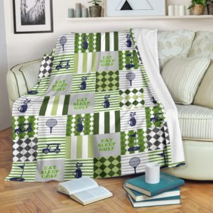 EAT SLEEP GOLF PATTERNS BLANKET@_proudteaching_eatpttbla653@premium-blanket Eat Sleep Golf Patterns Blanket Fleece Blanket, Personalized Gifts, Custom Blanket 587393