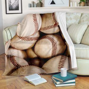 Baseball Ball Blanket@_proudteaching_FGDFG@premium-blanket Baseball Ball Blanket Fleece Blanket, Personalized Gifts, Custom Blanket 587367
