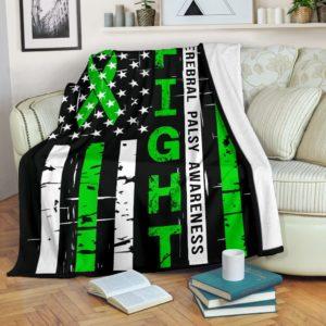 Cerebral Palsy Awareness - Fight Flag Blanket@_proudteaching_cepafla873@premium-blanket Cerebral Palsy Awareness - Fight Flag Blanket Fleece Blanket, Personalized Gifts, Custom Blanket 587318