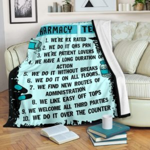 10 reasons to be with a pharmacy tech blanket@_proudteaching_pharmacy5646tech@premium-blanket 10 Reasons To Be With A Pharmacy Tech Blanket Fleece Blanket, Personalized Gifts, Custom Blanket 587217