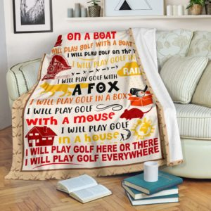 I will play golf here or there@_proudteaching_playgolfhereorthere@premium-blanket I Will Play Golf Here Or There Fleece Blanket, Personalized Gifts, Custom Blanket 587109