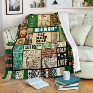 GOLF PATTERN VINTAGE BLANKET@_golflifepro_golfpttbla746@premium-blanket Golf Pattern Vintage Blanket Fleece Blanket, Personalized Gifts, Custom Blanket 587008
