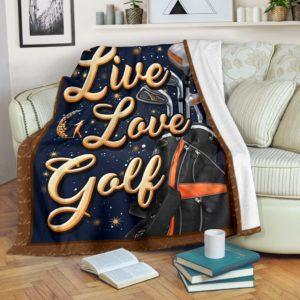 GOLF- LIVE LOVE PRE BLANKET@_golflifepro_golfu89689@premium-blanket Golf- Live Love Pre Blanket Fleece Blanket, Personalized Gifts, Custom Blanket 586982