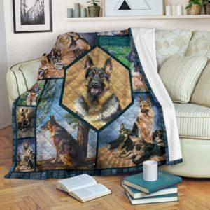GERMAN SHEPHERDS BLANKET@_merchnera_shepherds_blanket@premium-blanket German Shepherds Blanket Fleece Blanket, Personalized Gifts, Custom Blanket 586900