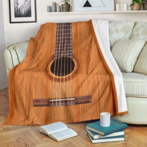 GUITAR BLANKET@_merchnera_guitar_blanket@premium-blanket Guitar Blanket Fleece Blanket, Personalized Gifts, Custom Blanket 586809