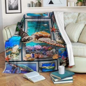 3D TURTLE BLANKET@_merchnera_turtle_blanket@premium-blanket 3D Turtle Blanket Fleece Blanket, Personalized Gifts, Custom Blanket 586593