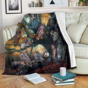 OWLS BLANKET@_merchnera_owls_blanket@premium-blanket Owls Blanket Fleece Blanket, Personalized Gifts, Custom Blanket 586580