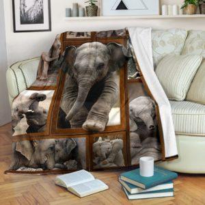 ELEPHANT 3D BLANKET@_merchnera_elephant_blanket@premium-blanket Elephant 3D Blanket Fleece Blanket, Personalized Gifts, Custom Blanket 586437