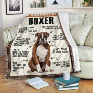 BOXER ANATOMY BLANKET@_merchnera_boxer_anatomy@premium-blanket Boxer Anatomy Blanket Fleece Blanket, Personalized Gifts, Custom Blanket 586424