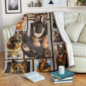 GERMAN SHEPHERDS 3D BLANKET@_merchnera_gsd_blanket@premium-blanket German Shepherds 3D Blanket Fleece Blanket, Personalized Gifts, Custom Blanket 586372