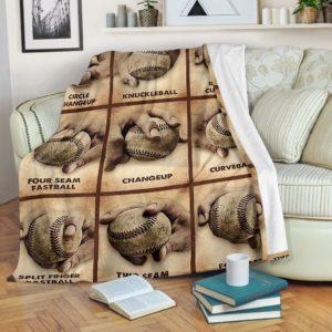 BASEBALL BLANKET@_merchnera_bsbl_blanket@premium-blanket Baseball Blanket Fleece Blanket, Personalized Gifts, Custom Blanket 586359