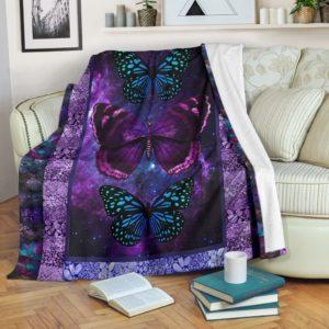 BUTTERFLY BLANKET@_merchnera_Butterfly_blanket@premium-blanket Butterfly Blanket Fleece Blanket, Personalized Gifts, Custom Blanket 586320