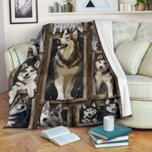 HUSKY 3D BLANKET@_merchnera_husky_3dblanket@premium-blanket Husky 3D Blanket Fleece Blanket, Personalized Gifts, Custom Blanket 586229